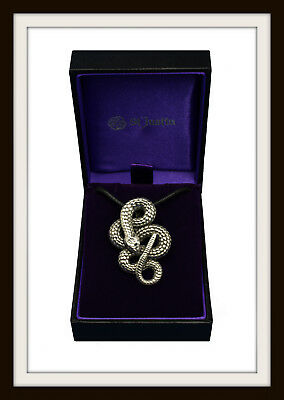 Coiled Snake Pendant - From St Justin ~ Made In Uk ~ Fast & Free P&p