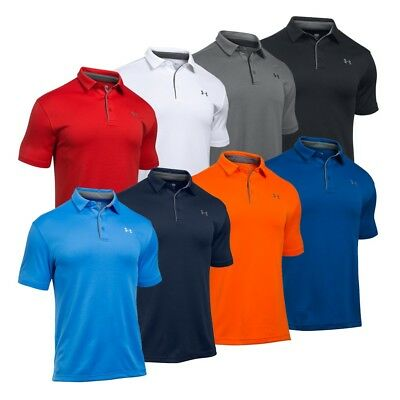 Under Armour Mens UA Tech Golf Polo Shirt Size 1290140 Loose-Fit S-2XL