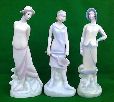 Royal Doulton - Charleston Series - Selection Of Bone China Figurines.
