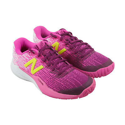 reputable site e7295 0a7c1 New Balance 1296V2 Womens Pink Textile Athletic Lace Up Tennis Shoes