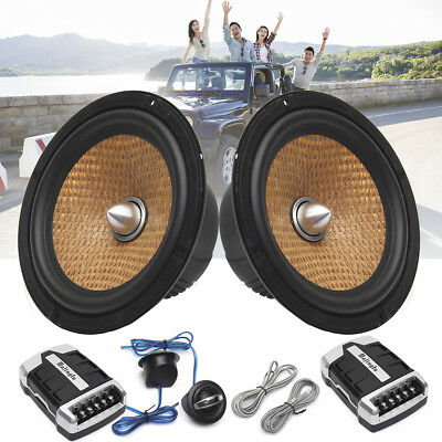 6.5'' inch 2-Way Component Car Audio Speakers 600W RMS 4ohm Speaker System Metal