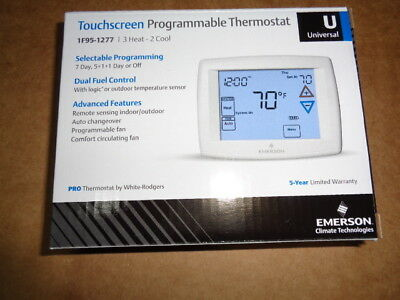 White Rodgers 1F95-1277 Touchscreen Programmable Multi Stage T Stat Emerson W/r