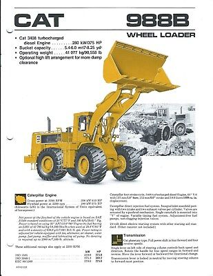 Equipment Brochure - Caterpillar - 988B - Wheel Loader - c1986 (E4331)