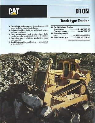 Equipment Brochure - Caterpillar - D10N - Track-Type Tractor - 1989 (E4345)
