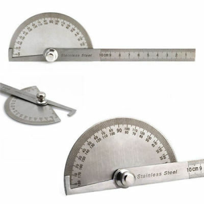 Stainless Steel 180 degree Protractor Angle Finder Arm Rotary Measuring Ruler ☆