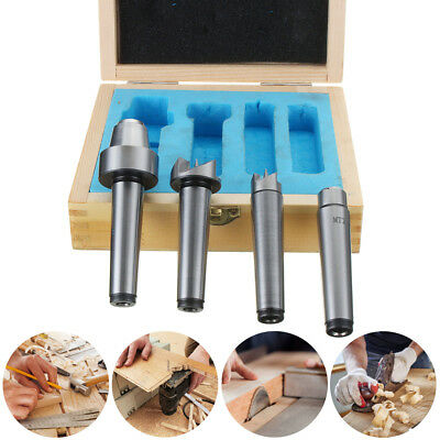 4Pcs MT2 Wood Lathe Live Center + Drive Spur Cup MT1 Arbor Set Wooden Case
