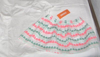 NWT Girls 5T GYMBOREE 2 Pc Outfit Skirt & Short Sleeve Top NEW