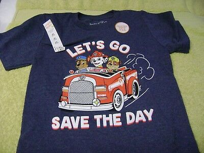 Paw Patrol Boys T-Shirt  Says: Let,s Go Save The Day !  Boys Size  3T  New