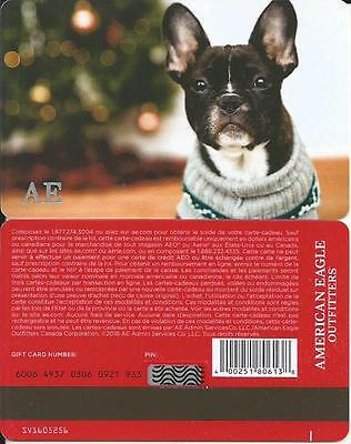 Christmas Dog Mint Gift Card From American Eagle Canada 2016 French Only