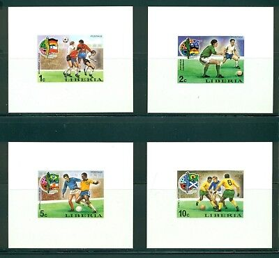 36d7ad9df8b Liberia Scott  675-678 MNH Deluxe Imperf World Cup 1974 Soccer    CLEARANCE