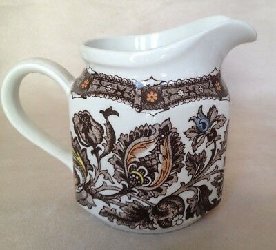 Vintage Ridgway Ironstone Staffordshire Pottery Jacobean Creamer Pitcher