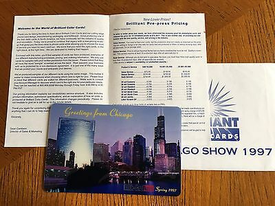 Greetings from Chicago, 1997, Brilliant Color Cards, JUMBO card