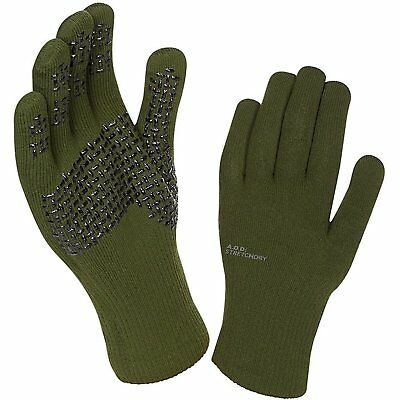 Sealskinz Ultra Grip Unisex Gloves - Dark Olive Anthracite All Sizes