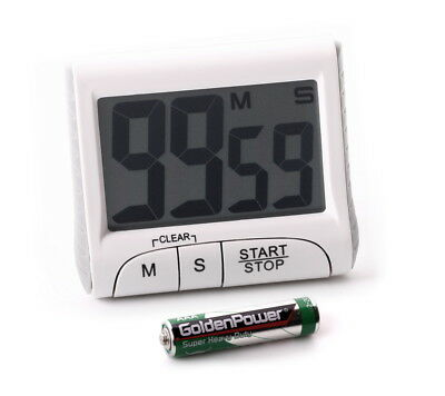 Eieruhr Timer Countdown Magnethalterung Count-Up Stoppuhr großes Display digital