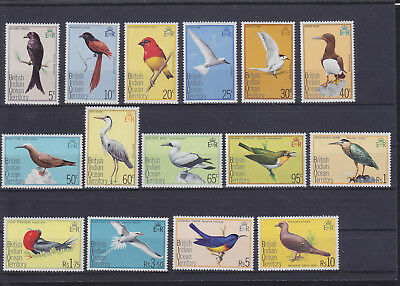 061317 Vögel Birds ... British Indian Ocean Territory 63-77 ** MNH Year 1975