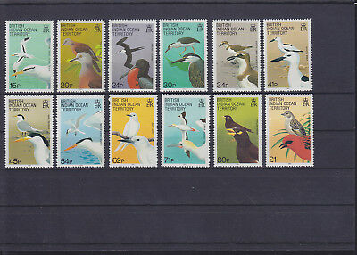061319 Vögel Birds ... British Indian Ocean Territory 94-105 ** MNH Year 1990