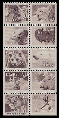 1880-89 1889 1889a Wildlife Animals 1981 Pane of 10 from BK137 MNH - Buy Now