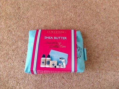 L'occitane Shea Butter Discovery Collection With Make Up Bag Brand New
