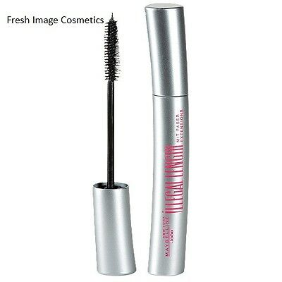 Maybelline Illegal Length Mascara Black  New Carded Fibre Extensions