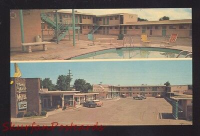 Tucumcari New Mexico Route 66 Town House Motel Old Cars Advertising Postcard