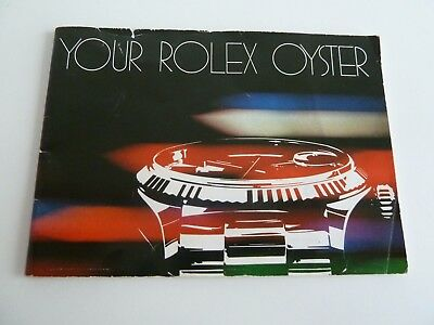 Rolex Oyster Booklet - USA 11-1981