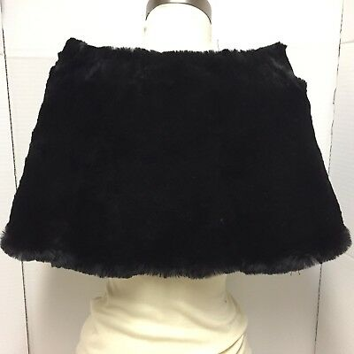 Black Mink Fur Collar Lined 12 Inches High Vintage