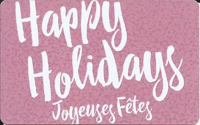 New Happy Holidays Mint Gift Card From Ardene Canada Bilingual No Value