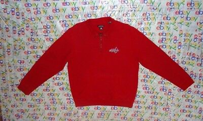 Vintage Men s Nhl Washington Capitals Sewn 1 4 Zip Antigua Fleece Jacket  Medium 71bb395b5