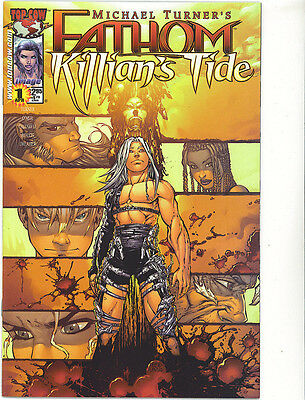 Fathom  killian's tide 1  vfn/nm 2001 regular cover Michael Turner Image Comics