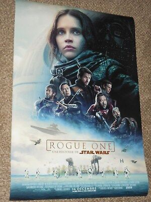 "Star Wars Rogue One ""FRENCH VER C"" ex 27x40 Original D/S Movie Poster"