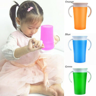 260ml Silicone Mini 360 Leakproof Training Cup Handle Cup For Baby Kids Children