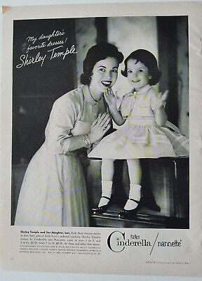 1958 Girls Cinderella Nanette dresses Shirley Temple and her daughter ad