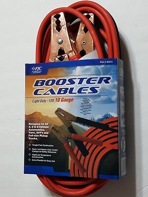 FJC 12' 10 Gauge Booster Cable Set 45215