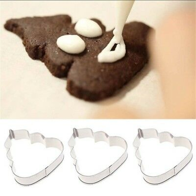 2PC Poop Emoji Packed Stainless Steel Cookie Cutter Pastry Dessert Fruit Mould