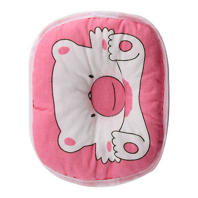 PINK Bear Printed Pillow Newborn Infant Baby Support Cushion Pad Prevent Flat *1