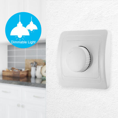 Wall Mounted Rotary LED Light Dimmer Adjustable Controller Switch AC 220V LD1219