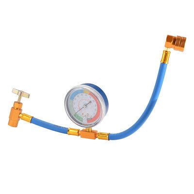 R134A Air Conditioning Refrigerant Recharge Hose Gauge with Brass Fitting MA1274