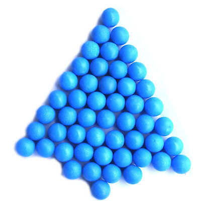100 - New .68 cal Reusable Rubber Training Balls Paintballs (BLUE)