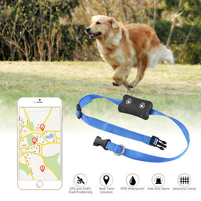 Mini GPS Tracker Pet Cat Dog Anti-Lost Real Time Tracking Locator Collar AH363