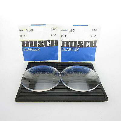2x Busch Clarlux Ø 60mm  | sph. -1,5 | cyl. - | spectacle lens / Eyeglass