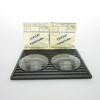 2x Export Punktura Ø 52mm  | sph. +5,75 | cyl. - | spectacle lens / Eyeglass