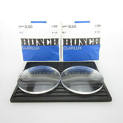 2x Busch Clarlux Ø 60mm  | sph. -2,00 | cyl. - | spectacle lens