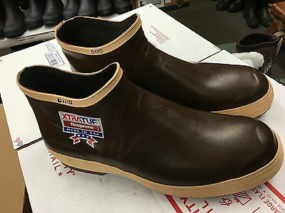 "Vintage NEW USA MADE XTRATUF 6"" SIZE 14 Neoprene Rubber Boots ALASKAN SNEAKERS"