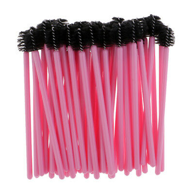 50Pcs/Set Disposable Eyelash Mascara Eyebrow Brushes Wands Makeup Brush Pink