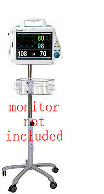 Rolling stand for Mindray pm-8000 DPM4 patient/veterinary monitor ( small wheel)