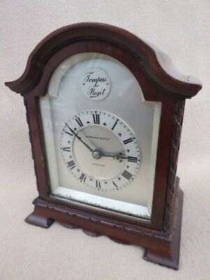 Small Vintage 8 Day Mahogany Bracket Clock For Tlc