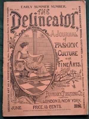 The Delineator orig 1896 Butterick Co Clothing Sewing Pattern Catalog Magazine