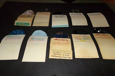 Lot 10 Vintage Advertising decorative handkerchief Dry Cleaners Advertising
