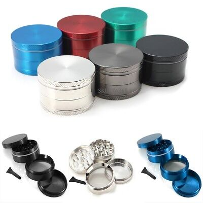 4 Piece 2 inch Magnetic Spice Grinder Herbal Herb Smoke Crusher Zinc Alloy US