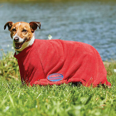 Weatherbeeta Dry Bag Unisex Pet Accessory Dog Towel - Red All Sizes